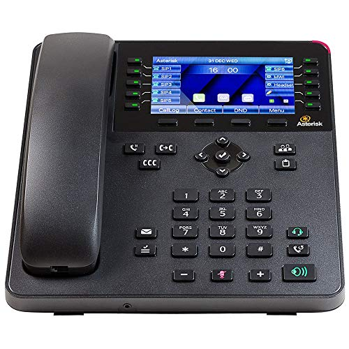 - Digium PHONE, A30, 6-LINE SIP WITH HD VOICE, GIGABIT, 4.3 INCH COLOR DISPLAY, ICON KEYS