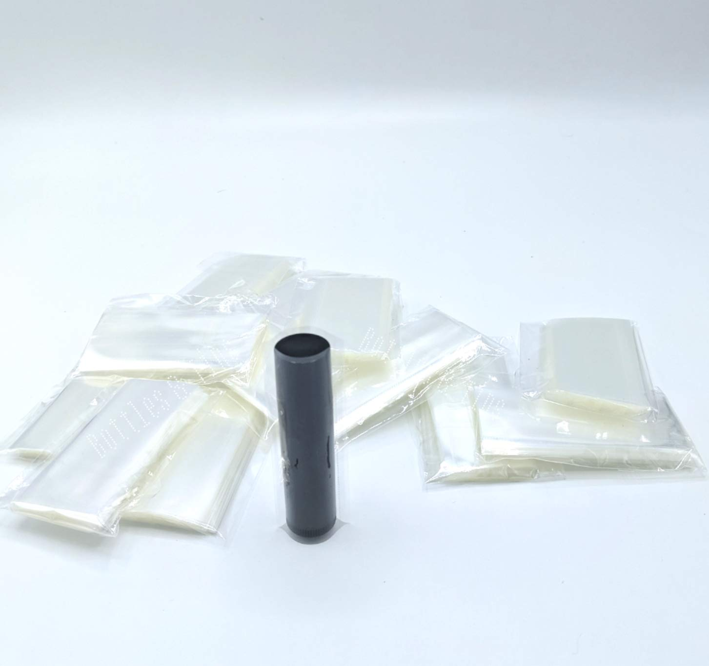 Tamper Evident Safety Seal Chapstick 50 Clear Shrink Wrap Bands Sleeves for Lip Balm Tubes