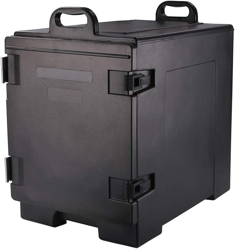 Cater Tek Rectangle Black Food Pan Carrier - Insulated, Front Loading - 16 3/4