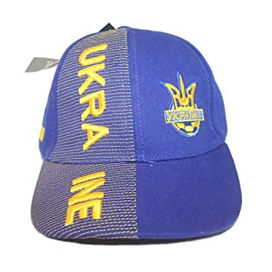 Ukraine Blue With Trident Soccer World Cup Kids Hat Cap .. Ages 6-10 Years Old.. New from SUPERDAVES SUPERSTORE