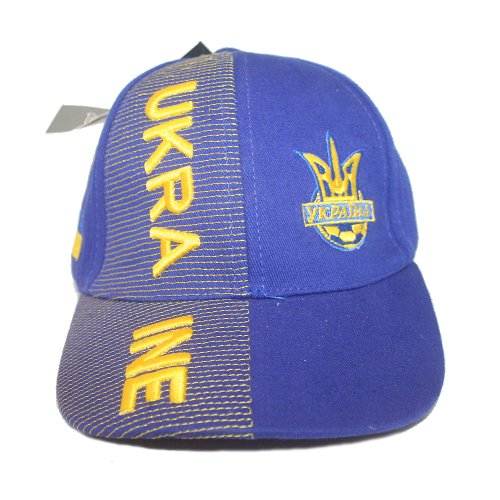 (Ukraine Blue With Trident Soccer World Cup Kids Hat Cap Ages 6-10 Years Old. New)