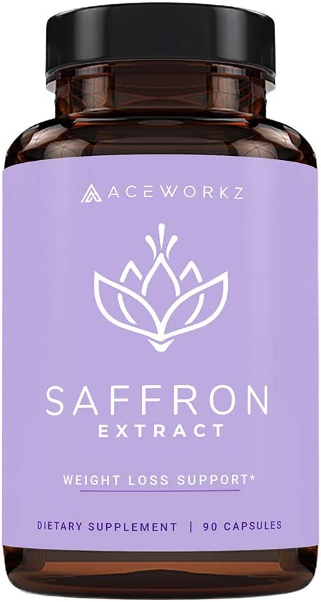 100% Pure Saffron Extract for Healthy Weight Loss - Natural Appetite Suppressant - Metabolism Booster - Enhances Energy & Mood - Anti Stress & Anxiety - 88.5mg (90 Capsules)