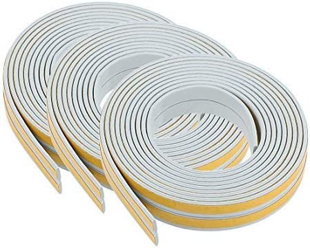 Foam Adhesive Weather Strips 9 mm wide 2 mm thick 6 pieces 2.5 meters long gray