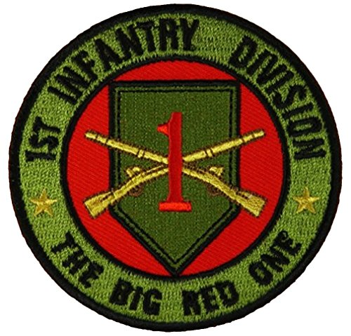 N THE BIG RED ONE ROUND PATCH - Color - Veteran Owned Business. ()