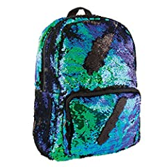 This is the cutest Magic Sequin Backpack we have designed to date for the sweetest person in your life.  The backpack changes from a shimmery mermaid blue/green to black with the swipe of a hand! The back side of this standard sized backpack ...
