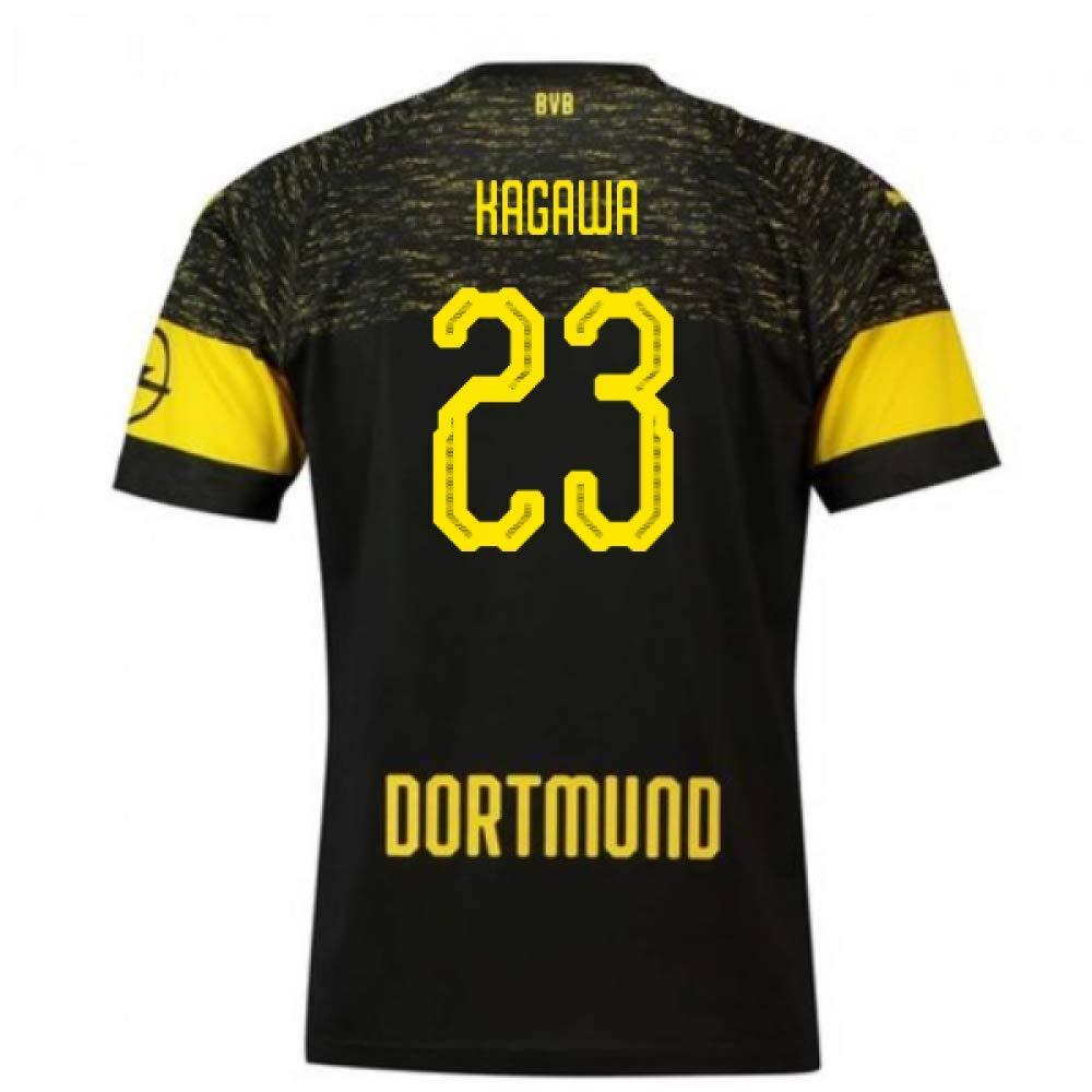 2018-2019 Borussia Dortmund Puma Away Football Soccer T-Shirt Trikot (Shinji Kagawa 23)