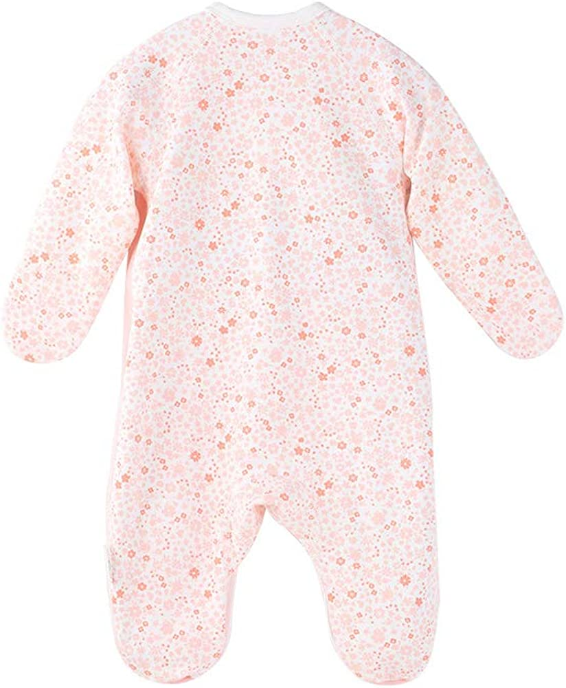 COBROO Baby Footed Sleepers Pajamas with Built-in Mittens 100/% Cotton Baby Outfits with Floral Butterflies Print 0-6 Months