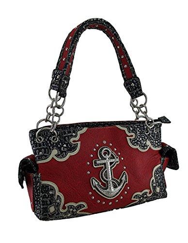 nautical-anchor-rhinestone-studded-concealed-carry-handbag