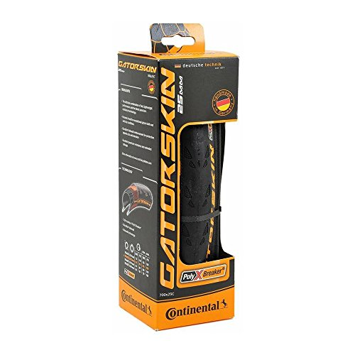 Continental Ultra Gatorskin Bicycle Tire (700x25, Folding, Black)