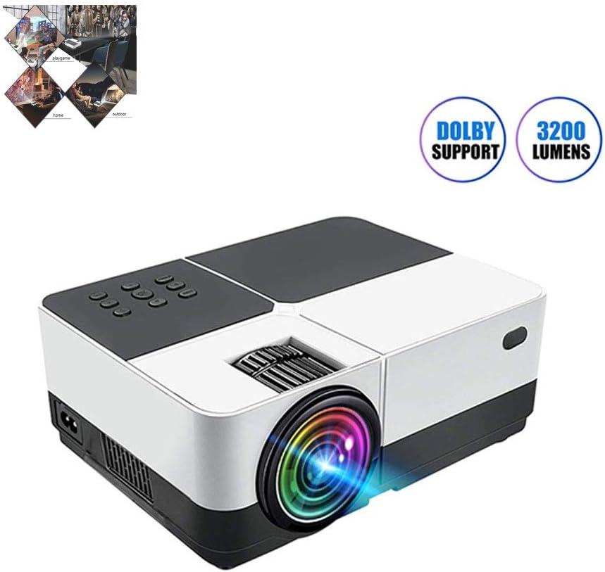 GJZhuan Proyector Micro HD Portátil, Sistema De Cine En Casa con ...