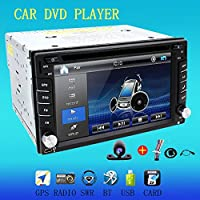 6.2 Inch Double DIN Gps Navigation For Universal Car Free Backup Camera DVD/CD/MP3/MP4/USB/SD/AM/FM/RDS Radio/Bluetooth/Stereo/Audio/LCD