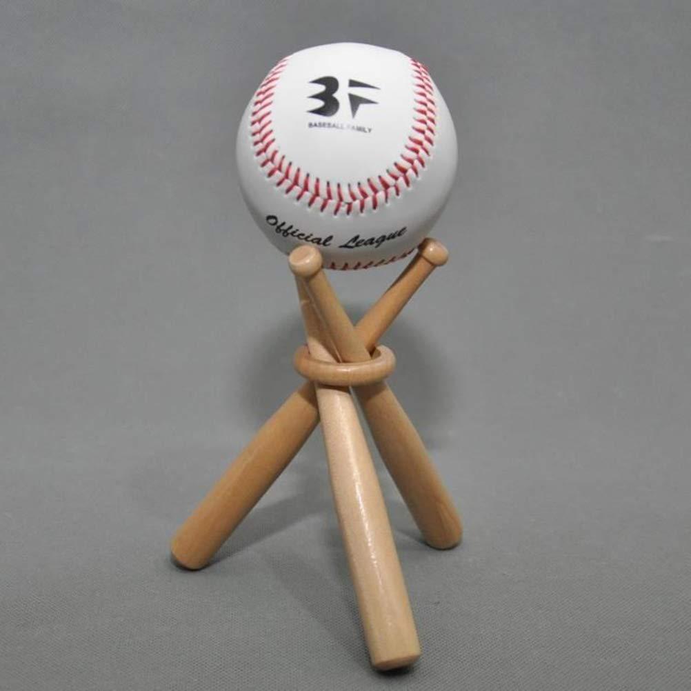 Vosarea Bate de Béisbol de Madera Soporte de Pelota de Béisbol sin ...