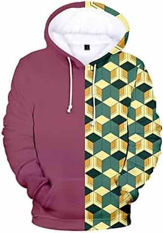 3D Print Pullover Hoodies with Pocket Cross Soft Fleece Hooded Sweatshirt for Youth Teens Kids Boys Girls 7-20 Years