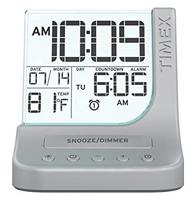 Timex Color Changing Dual Alarm Clock with 1A USB Charge (T125SC)