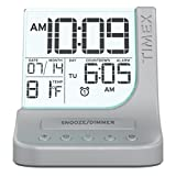 SDI Technologies T125SC Color Changing Dual Alarm Clock with 1A USB Charge, Clear