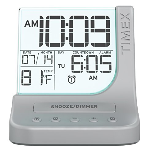 Timex Color Changing Dual Alarm Clock with 1A USB Charge