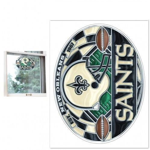NFL New Orleans Saints Multi-Use Decal Stained (New Orleans Saints Stained Glass)
