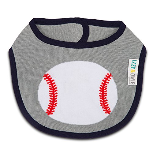 (Izzy and Owie Baseball Bib 0-24 Months, Gray)