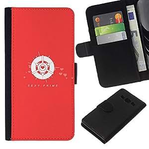 All Phone Most Case / Oferta Especial Cáscara Funda de cuero Monedero Cubierta de proteccion Caso / Wallet Case for Samsung Galaxy A3 // Sexy Prime Red