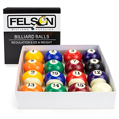 Deluxe Pool Table Billiards Balls - 16 Pc Set by FBS