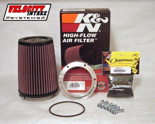 Malone Motorsports VAD-KFX450-1 Kawasaki KFX450r Airbox Adapter with K&N Filter by Velocity Intake Systems