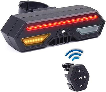 LED Posteriori per Indicatori di Direzione Indicatori di Direzione USB di Ricarica con Telecomando Wireless per Ciclismo Mountain Bike Bicicletta da Strada XQK Fanale Posteriore per Bici