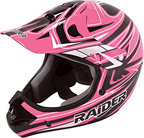 Raider Y55-564P-14 Rush Girls' Youth MX Off-Road Helmet, Pink (Medium)