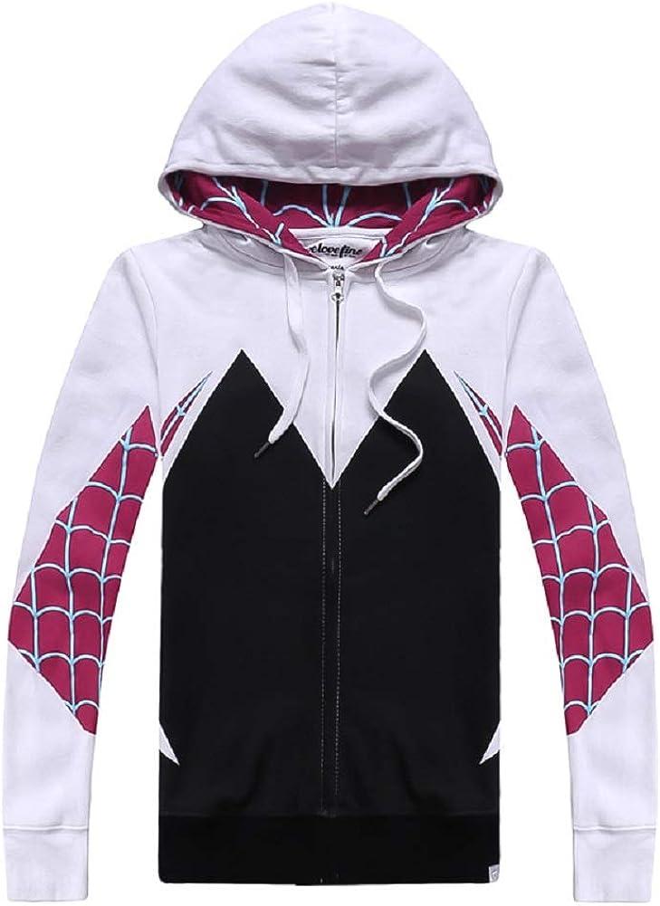 Spider Gwen Superhero Unisex Hoodie Outfit Coat Jacket Sweatshirt Cosplay Hooded