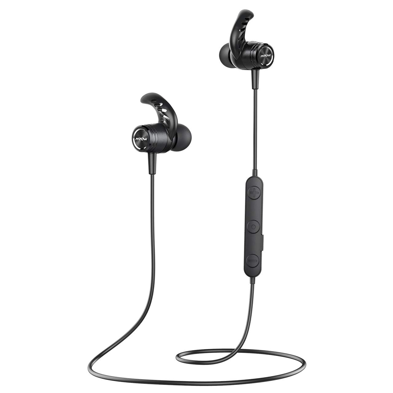 Mpow S10 Bluetooth Headphones Sport, IPX7 Waterproof Wireless Earbuds Sports W 9 Hrs Playtime,Hi-Fi HD Stereo Sound, Running Earbuds Headphones Wireless Magnetic Earphones In-Ear for Workouts, Black