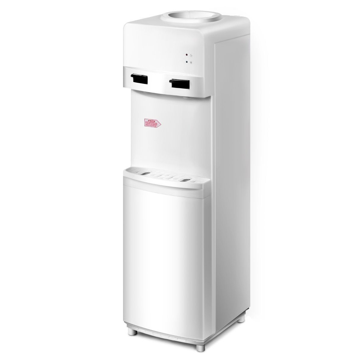 Giantex Top Loading Water Cooler Dispenser 5 Gallon Normal Temperature Water And Hot Bottle Load Electric Primo Home (White)