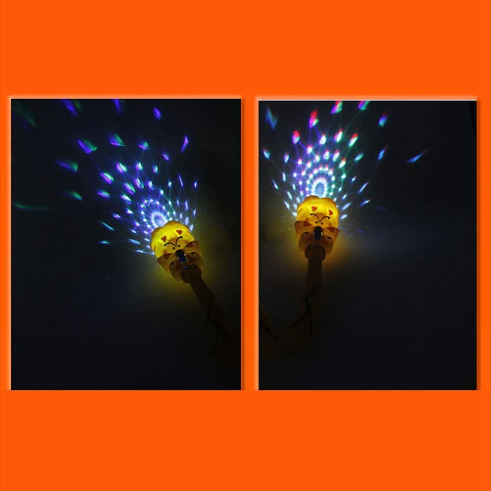 Vimbhzlvigour Luminous Stick Magic Projection Wand Rod Flashing Star Light Kids Children Light Up Toy Random Color