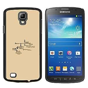TECHCASE---Cubierta de la caja de protección para la piel dura ** Samsung Galaxy S4 Active i9295 ** --Lucha Reglas del Club