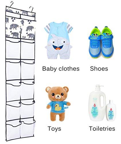 Over The Door Shoe Organizer Children Toy Storage Hanging Shoe Rack With Large Pockets For Closet Door