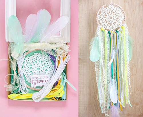 DIY dream catcher kit- Kids Craft kit - Make Your own Dreamcatcher- Diam 6,2`(15.5cm )Spring colors Birthday party Crafting set from WORLDREAMER