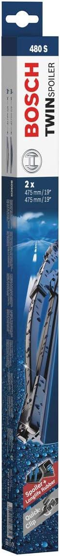 Bosch Scheibenwischer Twin Spoiler 480s Länge 475mm 475mm Set Für Frontscheibe Auto