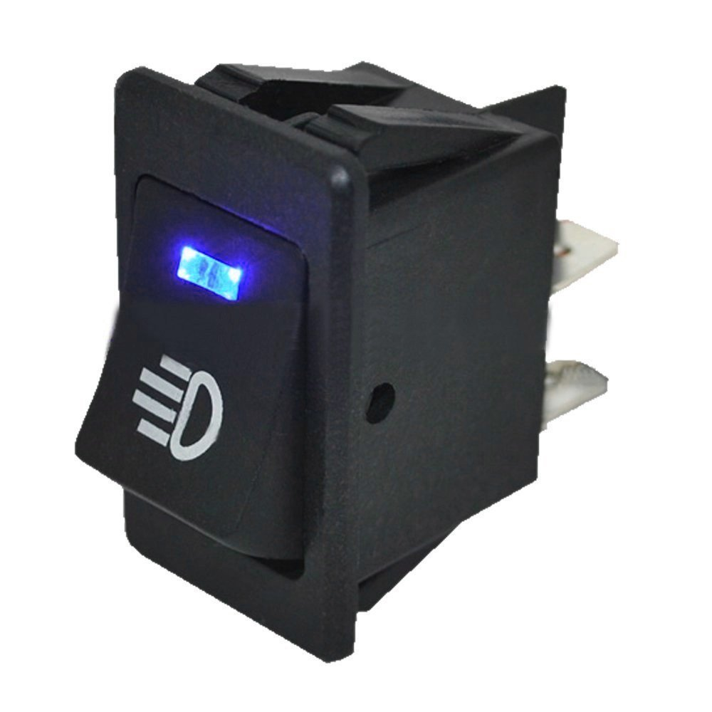 HOTSYSTEM 2 x 12V Wasserdicht Auto KFZ Schalter Wippschalter Ein//Ausschalter LED Beleuchtet Wechsel Switch Kippenschalter Gr/ün