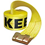Keeper 04926 30' x 4'' Winch Strap with Flat Hooks