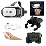 Captcha Virtual Reality Headset Version 2.0 With Bluetooth Wireless Remote Controller For All Android & iPhone Smartphones (Assorted Colour)