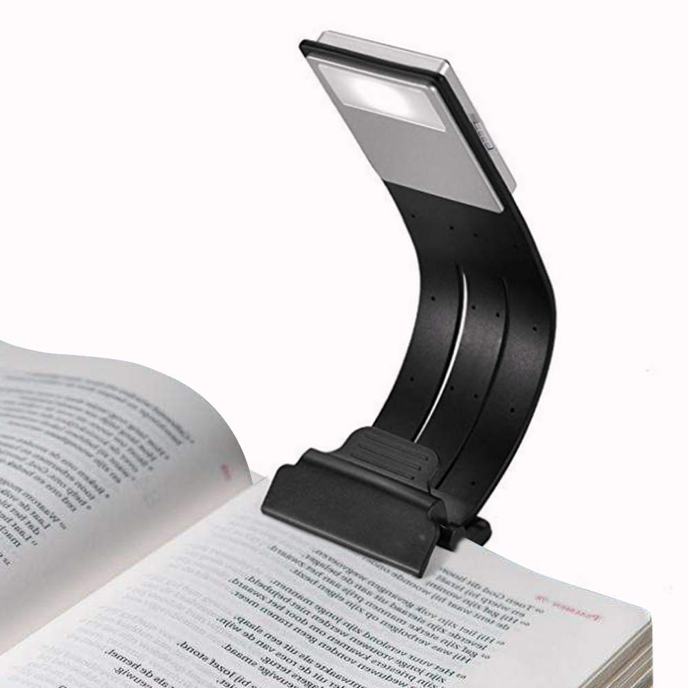 Built-in USB Cable Easy Charge Led Book Light Clip On Rechargeable Book Light for Reading in Bed Rechargeable Soft Light Eyes Perfect for Kindle Book Reader