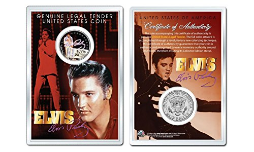 ELVIS PRESLEY - Final Concert OFFICIAL JFK Half Dollar US Coin in PREMIUM HOLDER