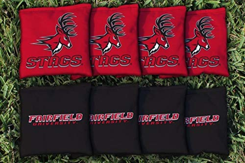 Victory Tailgate NCAA Collegiate Regulation Cornhole Game Bag Set (8 Bags Included, Corn-Filled) - Fairfield Stags -
