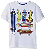 Gymboree Little Boys' Short Sleeve Crewneck Graphic Tee, Skateboard Food, L
