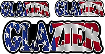 "Glazier American Flag Hard Hat Sticker Window Glass Decal Sticker 3/"" x 1/"""