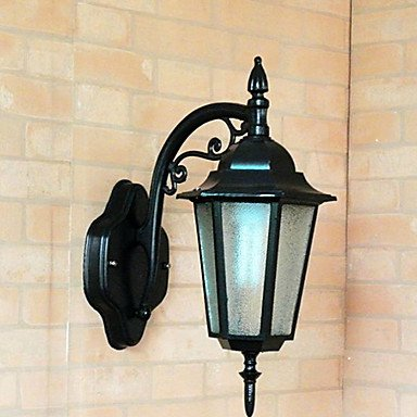 ZQ Character design Outdoor Wall Light, 1 Light, Classic Artistic Aluminum Glass Painting , 110-120V