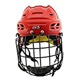 GY Ice Hockey Helmet High Density PP Shell Softer EPP Liner With Cage Combo,Adult Teenager
