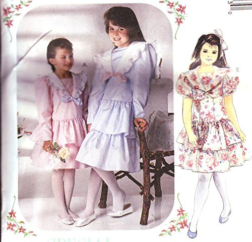 McCall's 5105 Sewing Pattern ~ Girl's Dress with Drop Waist, Tiered Skirt, Sailor Collar ~ See Listing for Size
