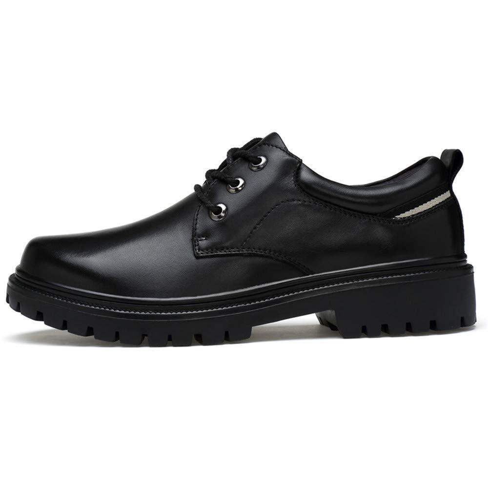 Xujw-schuhe, 2018 Schuhe Herren Herren Business Oxford Round Schuhe, Casual Leder Arbeitskleidung Round Oxford Toe Thick Bottom Formale Schuhe (Farbe : Schwarz, Größe : 42 EU) Schwarz 5270af
