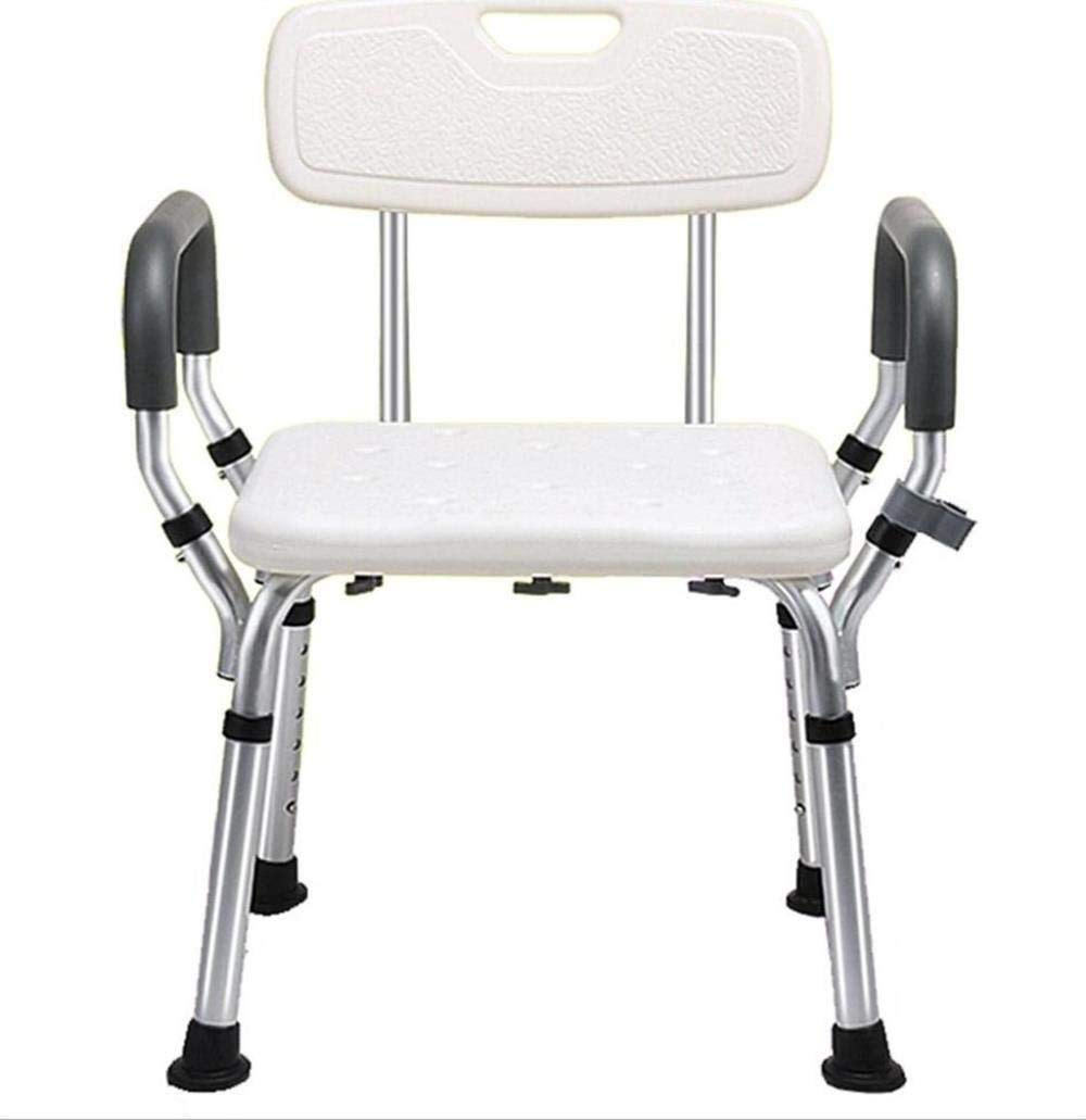 HHXX Shower Chair with Back - Bathtub Bench with Armrest for Disabled, Elderly Non-Slip Tub Safety Stool by HHXX