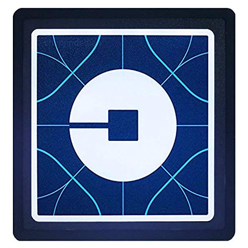 (DTXDTech UBER SIGN ACCESSORIES LOGO GLOW LED LIGHT SIGN with Lithium Ion Battery USB Charge UBER LYFT GLOW SIGN Light Up Decal Sticker)
