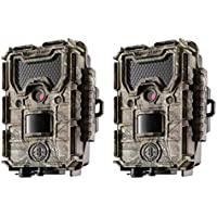Bushnell Trophy Cam Aggressor 14MP No Glow HD Game Trail Camera, Camo (2 Pack)